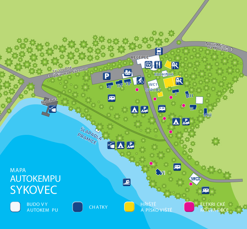 Mapa Kempu Autokemp Sykovec