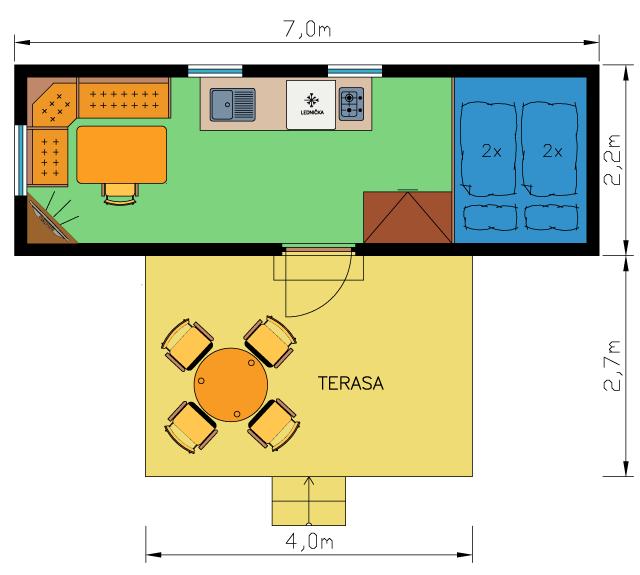 Schéma chatky 6 - Ubytování kemp Sykvoec