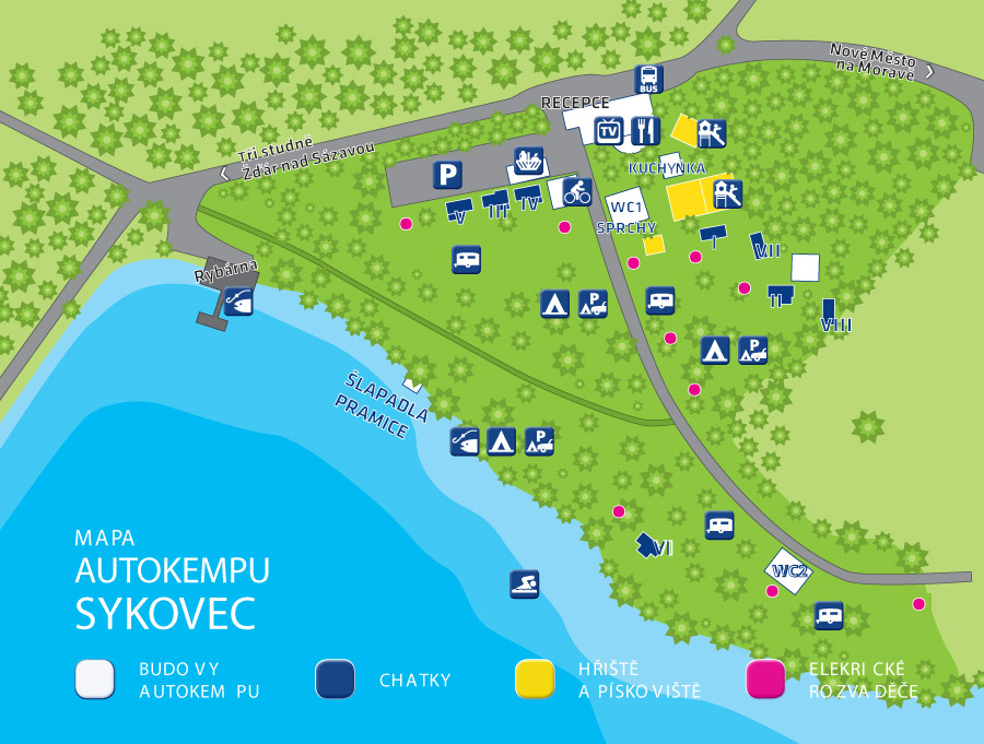 Mapa Kempu - Sykovec - Tři Studně